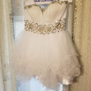 Dress used for quinceanera